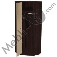 ШУ 800 (л/п) Шкаф угловой одежный - гардероб Алиса