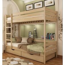 Кровать серии Эстелла - Дуэт (Массив) 80х190 см